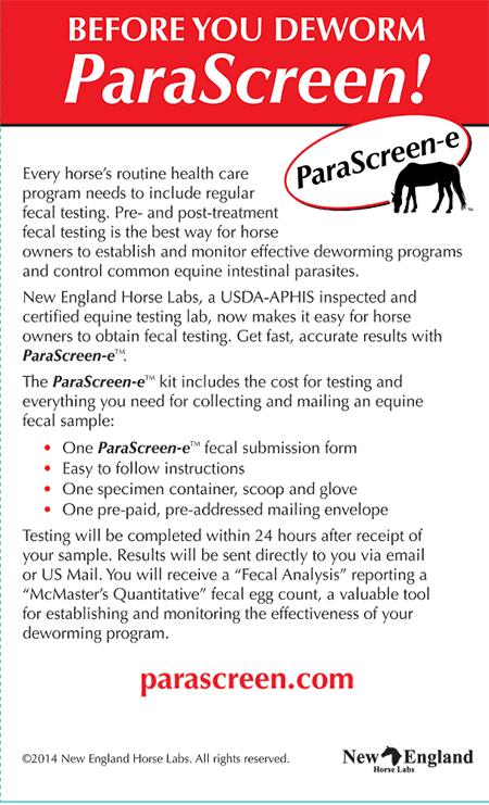 Parascreen E Equine Parasite Testing And Horse Fecal Egg